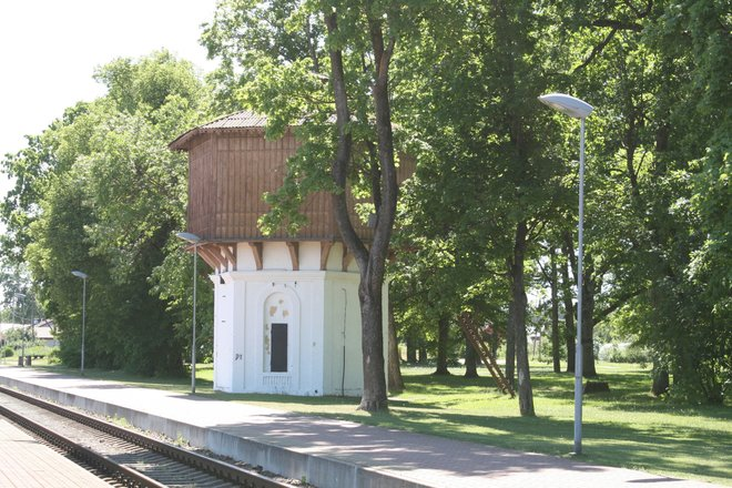 Wasserversorgungsturm des Bahnhofs Ignalina
