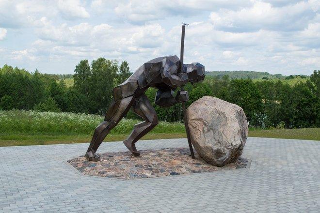 """Sculptur """"A Road Worker"""""""