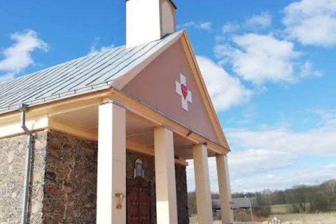 Церковь св. Сердца Иисуса в деревне Парингис