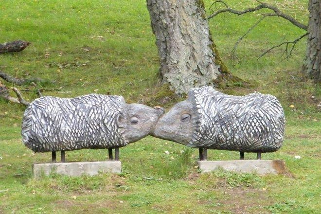 """Sculpture """"Hedgehogs"""""""