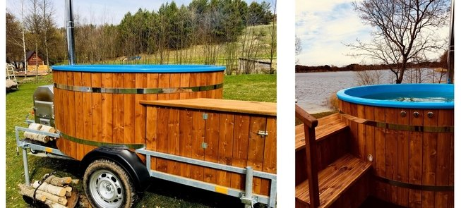 Hot tub for rent in Asalnai campsite